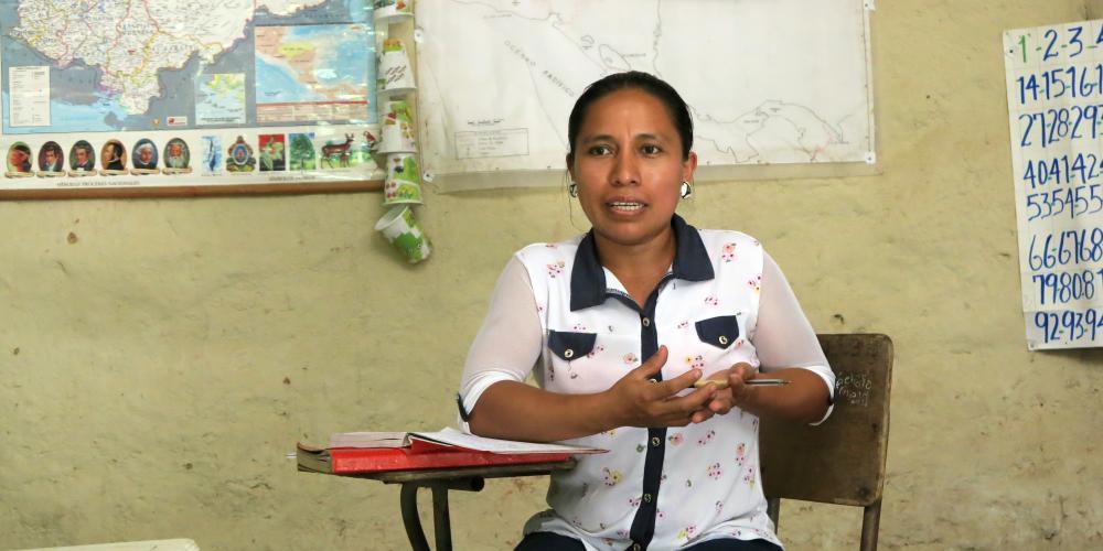 Alicia Soler community leader in Yuguela Honduras