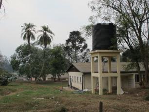 Rainwater harvesting tank in Rwanda