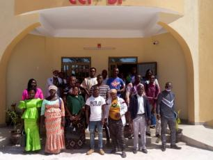 participants of the incubation programme in front of the Chamber of Commerce