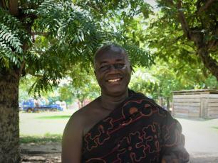 Nana Anim Dankwa Samanhene, Chief of Kenyasi no. 1 is a WASH advocate, actively involved in the WASH master planning