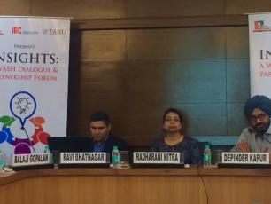 """Speakers at """"Insights: WASH Dialogues on Sanitation Promotion and Behavioural Science"""". Photo: ISC/IRC"""