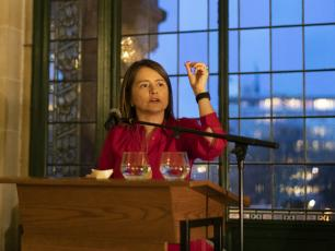 Catarina de Albuquerque speaking at the Peace Palace, The Hague, 13 March 2019.