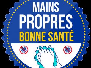 Mains propres bonne sante campaign logo